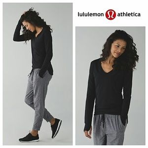 Lululemon Ruched Long Sleeve Tee